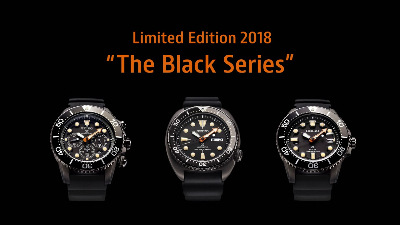 f5cdce94f0e Seiko SRPC49K1 SNE493P1 SSC673P1 The Black Series Limited Edition 2018