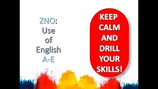 Zno: Use Of English  Section 1