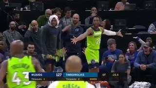 Towns 40 Points Derrick Rose Clutch OT 2018 19 NBA Season. March 10, 2019.