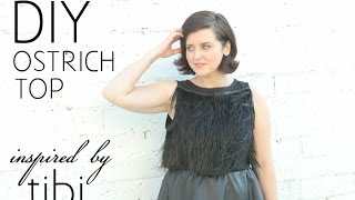 DIY Ostrich Top | Inspired by Tibi Thumbnail