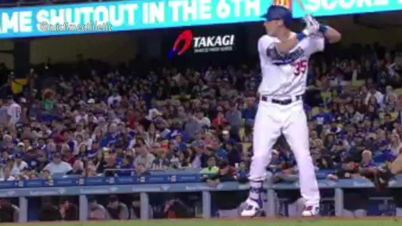 Slow Motion Baseball Swing >> Cody Bellinger Hitting Mechanics Slow Motion Baseball Swing MLB dodgers home run - YouTube
