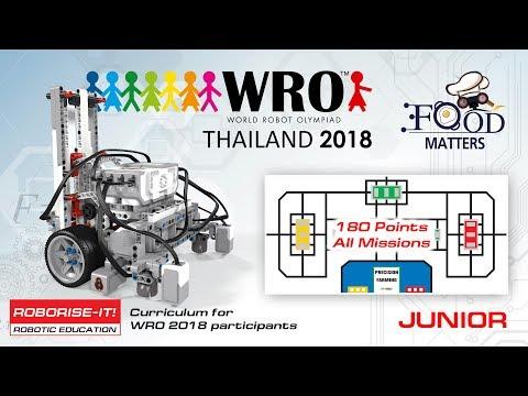 WRO 2018 Junior 180 points  Roboriseit curriculums for
