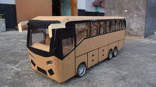 How to Make a RC Martz Bus From Cardboard-Multi lighting bus
