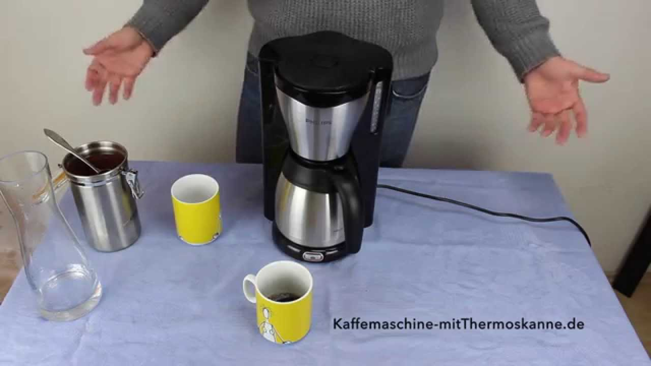 kaffeemaschine mit thermoskanne testsieger philips hd7546 20 youtube