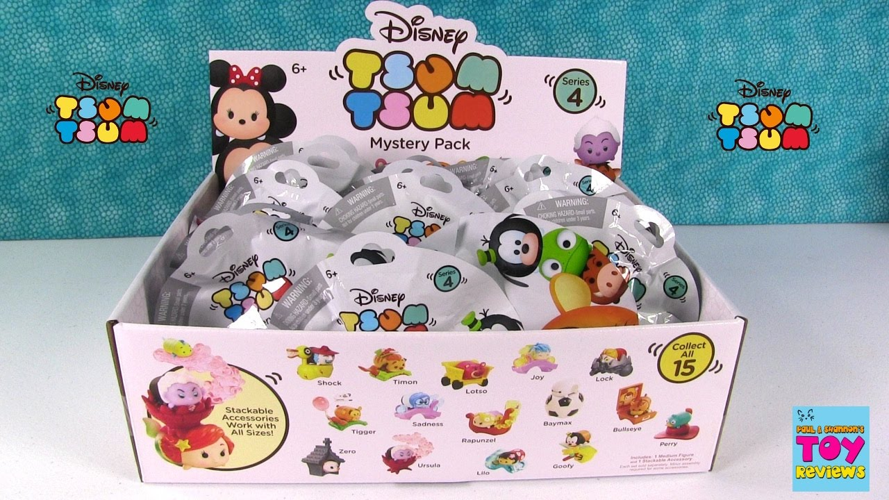 Disney Series 4 Tsum Tsum Mystery Stack Pack Blind Bag