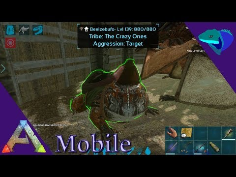 BEEZLEBUFO TAMING AND SWAMP CAVE! Ark: Mobile [S1:E20]