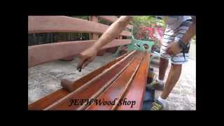 Protecting an outdoors wooden bench