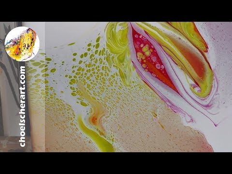☯️Acrylic Pour Painting, Yin Yang Rainbow Swipe over Resin - Live Demo-SOLD☯️