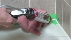 How To Remove And Apply Silicone To A Bathtub