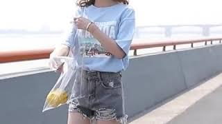 kirahosi 여성 예쁜 반바지 데님 하이웨스트 청바…