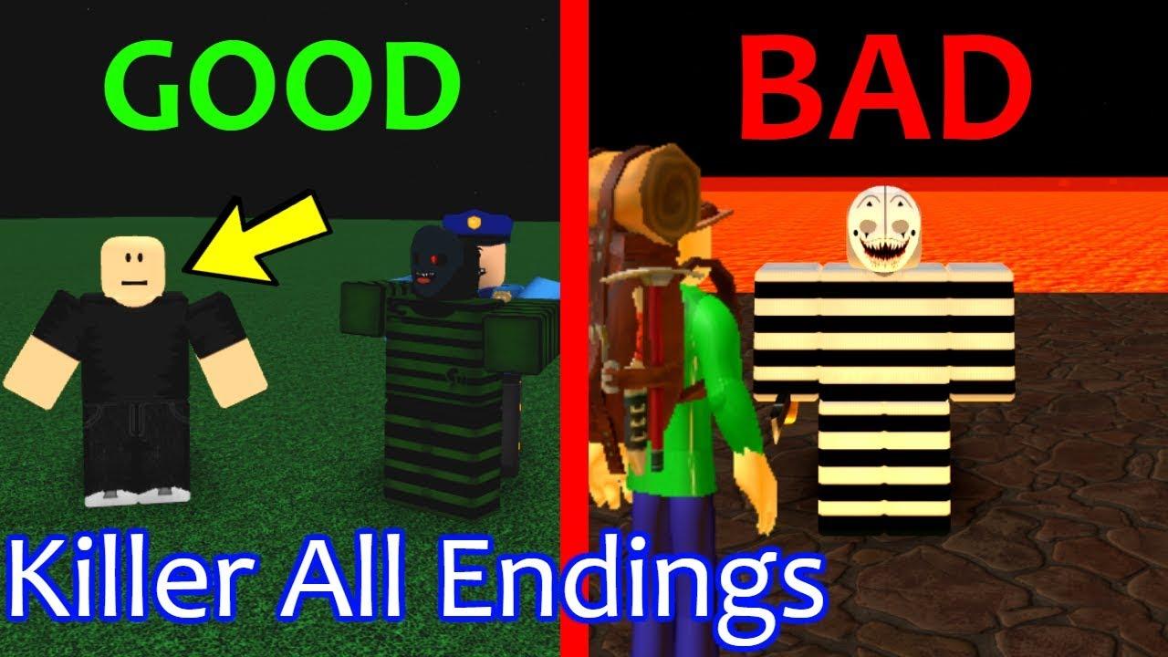 Roblox Killer All Endings Play As Camping Baldi Roblox