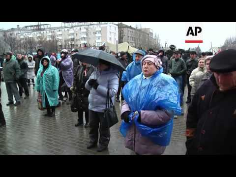 Pro Russian protests continue in the Ukrainian city Donetsk