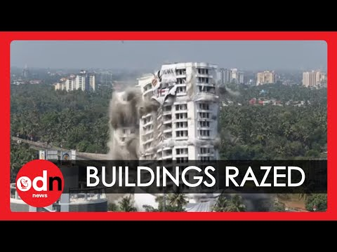 Huge Illegal Buildings Demolished in India
