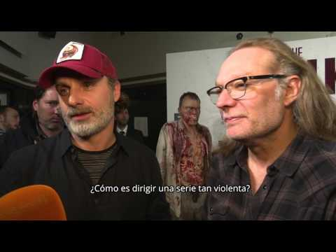 Los actores de 'The Walking Dead' revolucionan Madrid