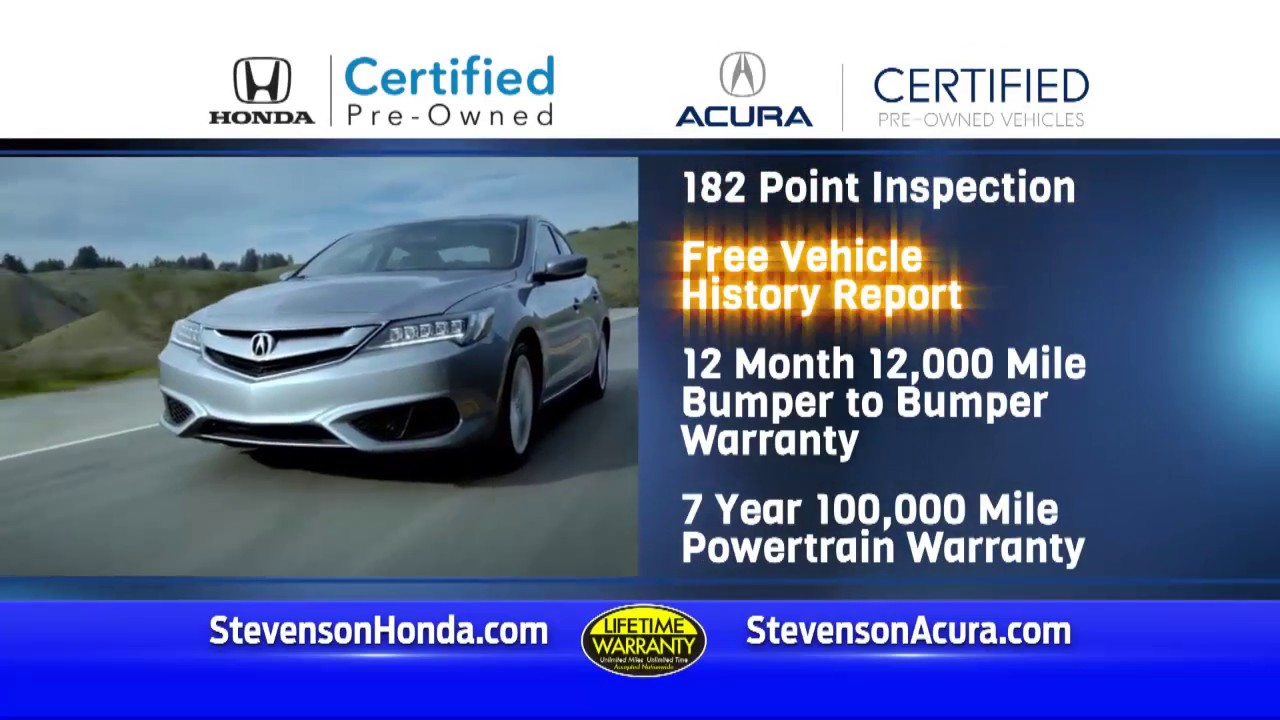 Stevenson Honda Acura Certified Preowned Wilmington, NC