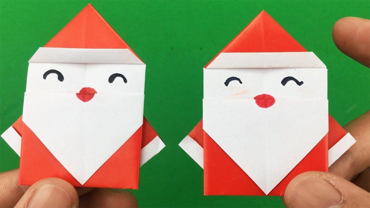 Basteln Mit Papier Weihnachtsmann Falten Basteln Weihnachten