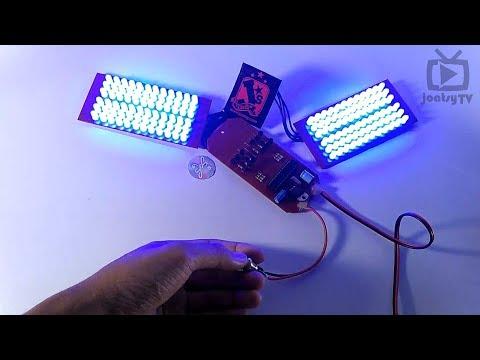 Membuat Sendiri Lampu Strobo 8 Mode