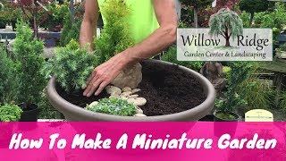 Greg shows us how to make a miniature garden in a container. He uses several dwarf conifers and spreading ground covers. Email List!