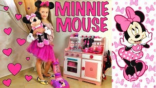 Funny video with Minnie Mouse eat Ice Cream Girls play with Minnie Mouse Story for kids