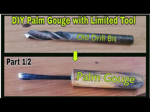 Amazing Use of old Drill Bit - How to Make Palm Gouge - Homemade Carving Gouge (Part -1)