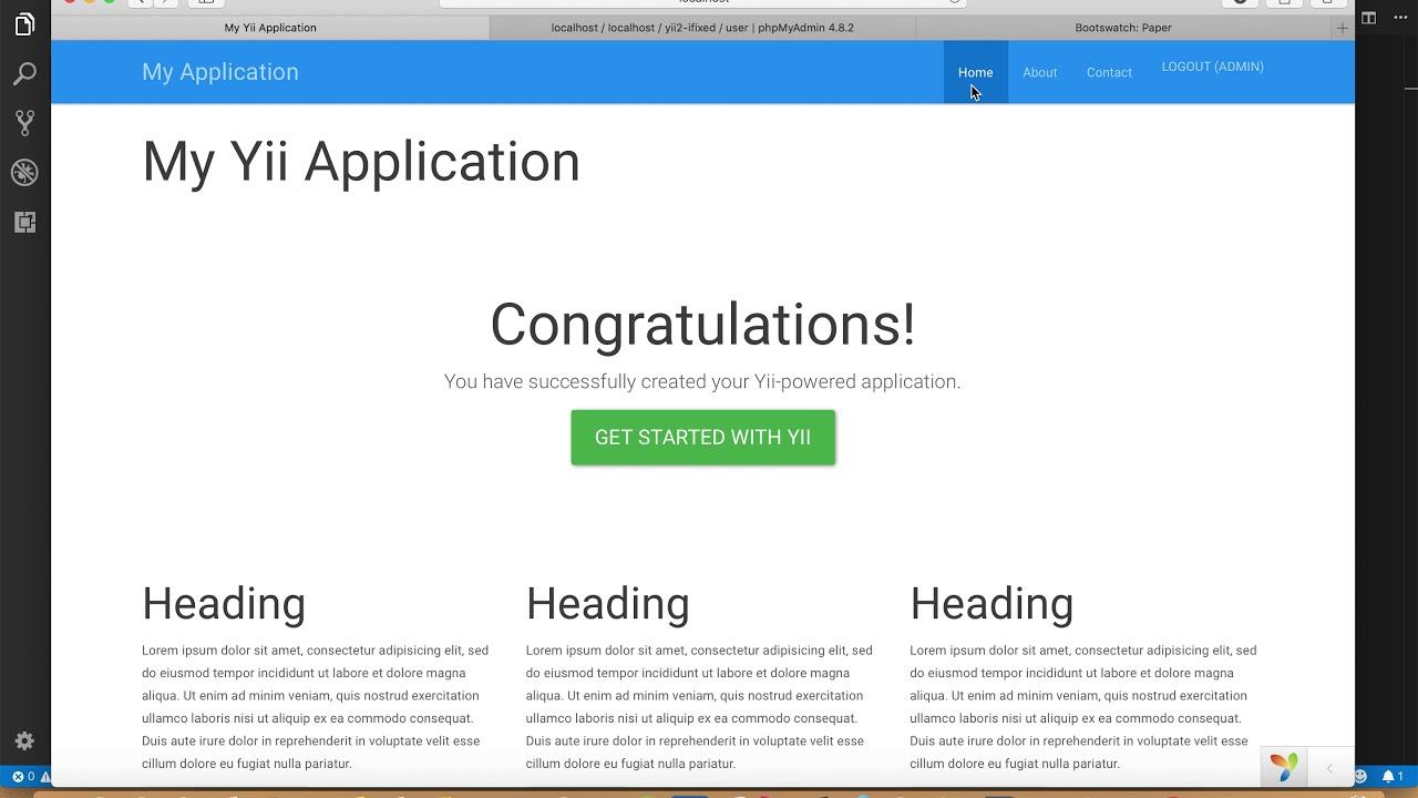 #12 Yii2 Workshop - การติดตั้ง Bootstrap Theme