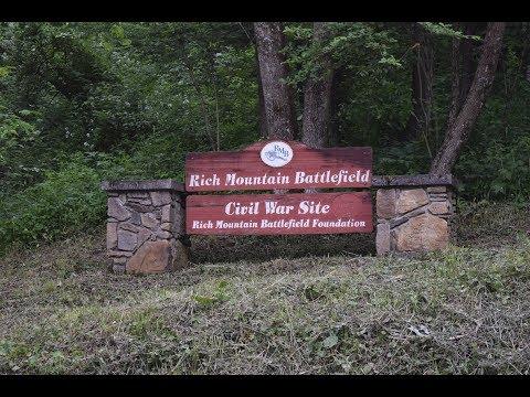The Battle of Rich Mountain, Civil War Battlefield near Beverly, West Virginia