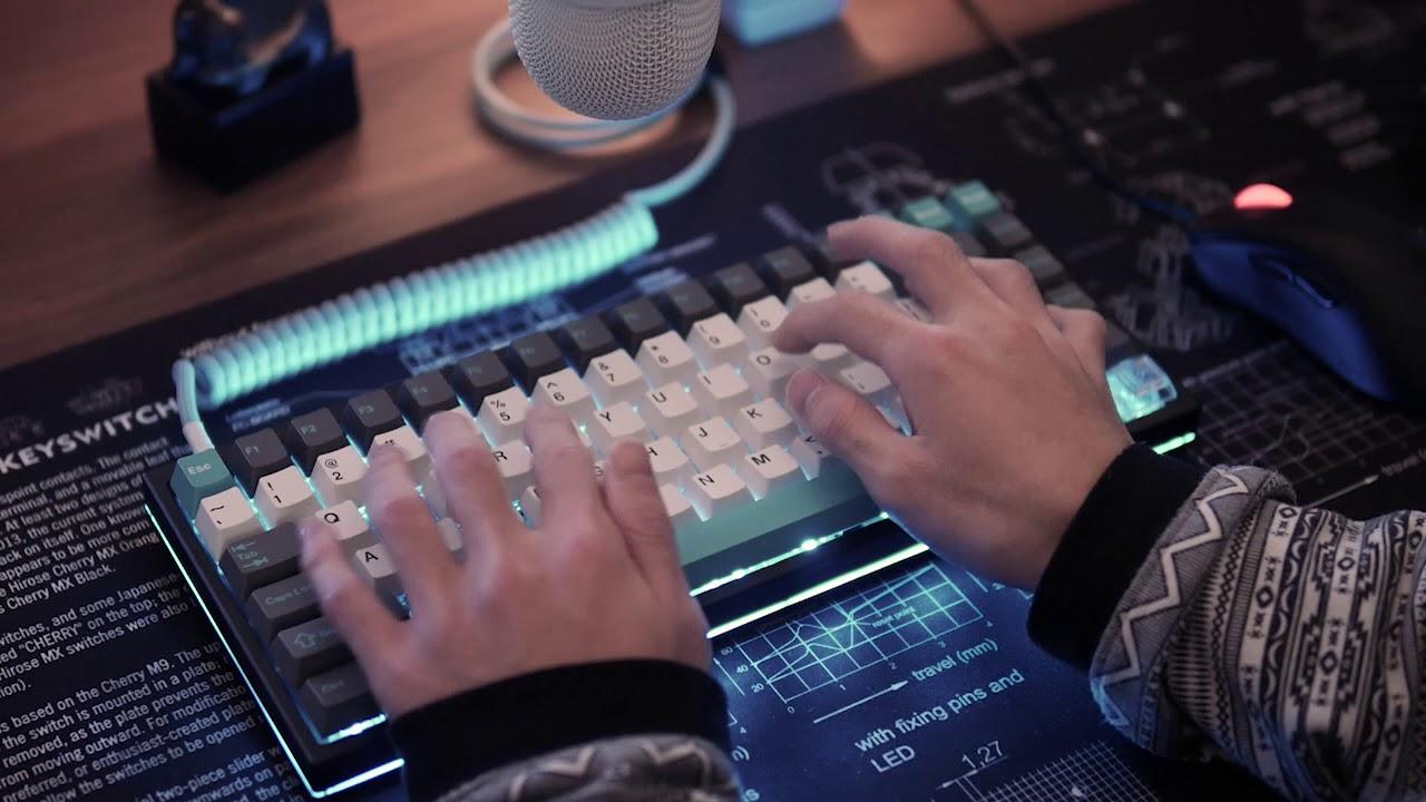 TypingSound | KBDfans KBD75 [R8 Zealios 67g +JTK Keycap]