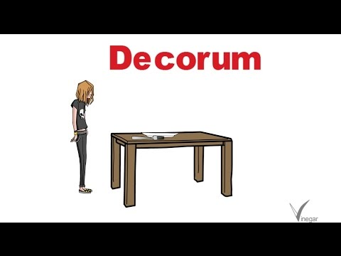 Decorum meaning in english and hindi with usage youtube for Decorum meaning