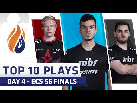 Top 10 Plays - DAY 4 - ECS S6 Finals - Feat. tarik, Fallen, Magisk!