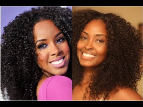 My Kelly Rowland Curly Fro Quot Inspired Quot Hairstyle Youtube