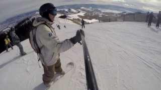 Snowboarding in Park City, UT (Ridge view + Piano)