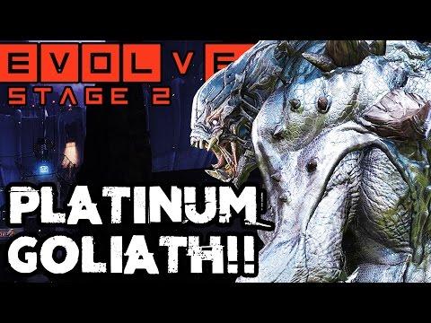 PLATINUM GOLIATH!! EPIC STAGE TWO MATCH!! Evolve Gameplay Walkthrough (PC 1080p 60fps)