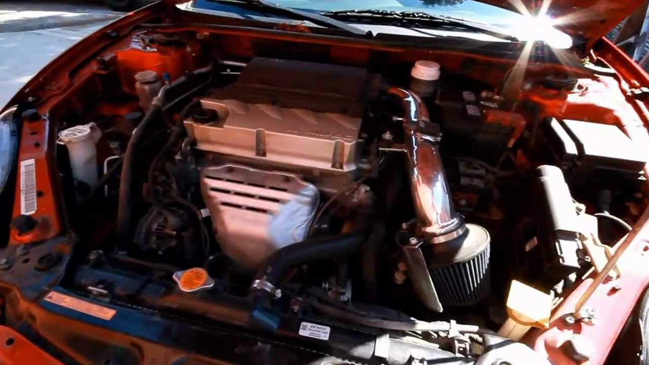 08 eclipse 20'' Rimz, Injen cold air intake+exhaust - YouTube