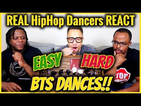 REAL Hip Hop DANCERS REACT to EASY to HARDEST BTS DANCES!!