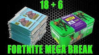 Panini FORTNITE TRADING CARDS SERIE 1 | 18 + 6 PACKS & COLLECORS TIN | Unboxing