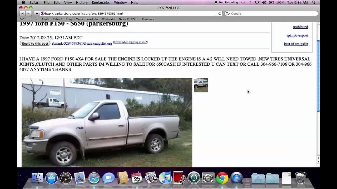 Craigslist parkersburg ohio used vehicle cars trucks and vans for sale by owner online