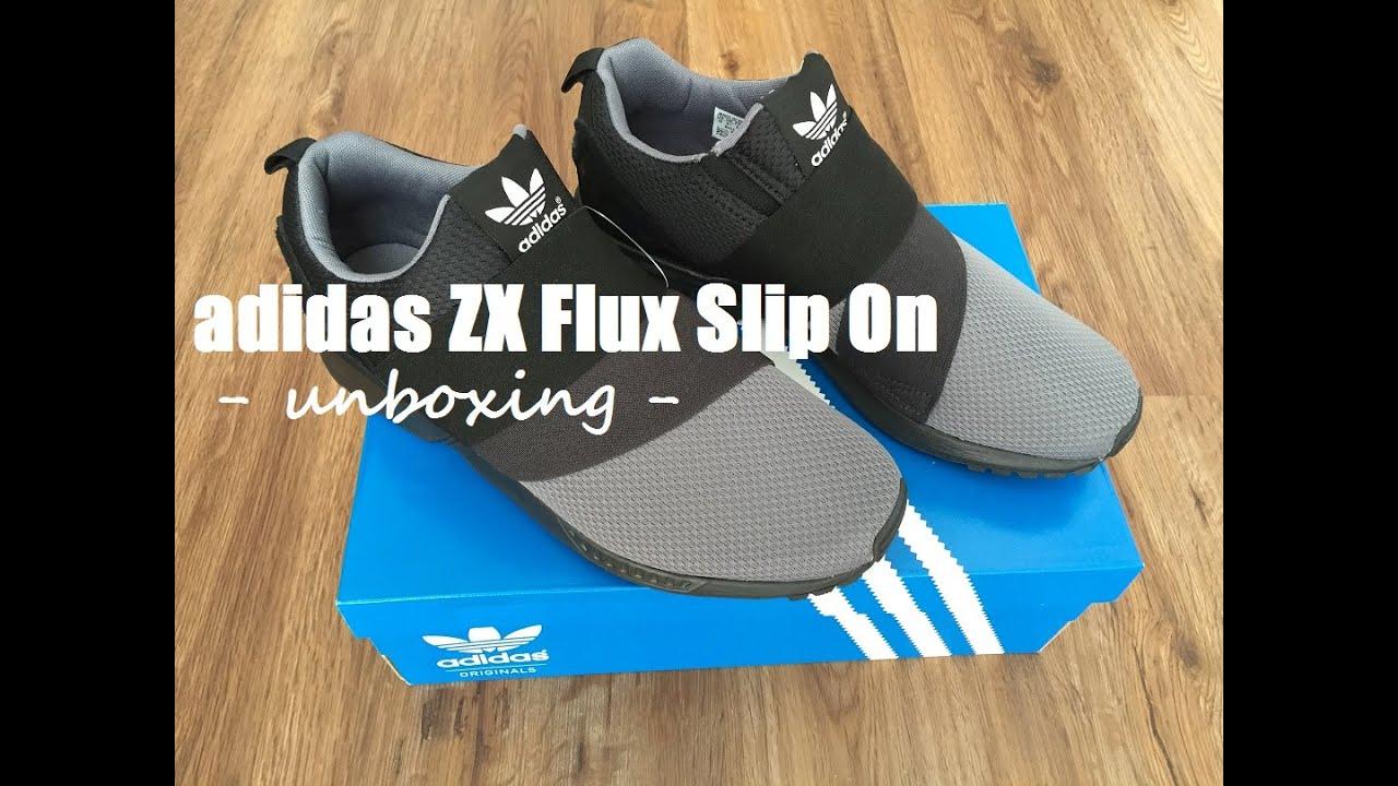 e4c7a4ec31f Adidas ZX Flux Slip On Schwarz Black - Sneaker Unboxing Review - YouTube