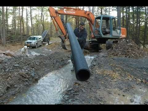 Installing culvert pipes