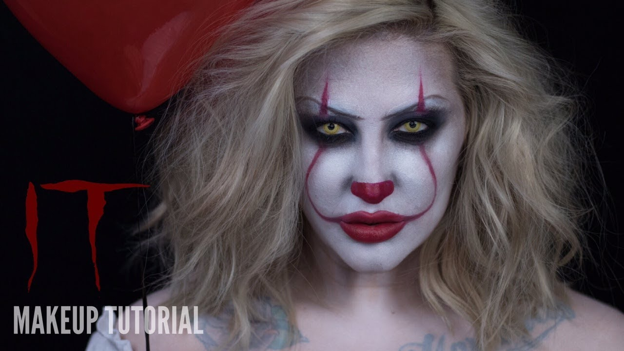 it 2017 pennywise halloween makeup tutorial youtube. Black Bedroom Furniture Sets. Home Design Ideas