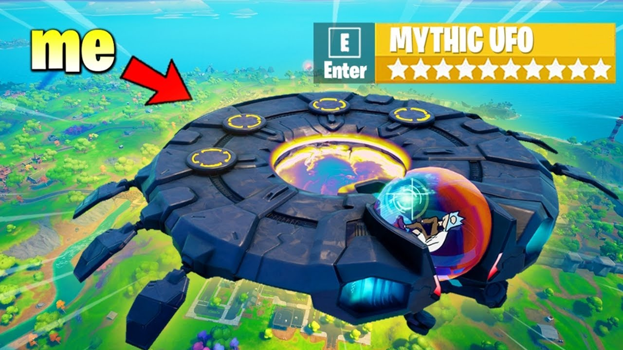 Fortnite, But I Can Only Use a UFO (overpowered)