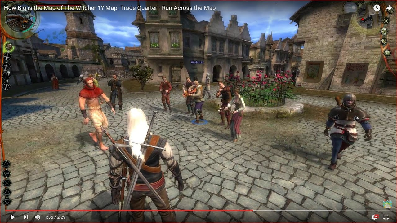 How Big Is The Map In The Witcher 1 Map Trade Quarter Run Across The Map Youtube