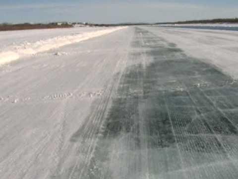 Mackenzie River ice road at Inuvik