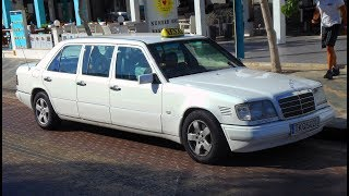 Taxi E-class w124 LWB in Cyprus - the island of long Mercedes