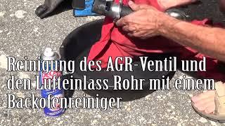 Reinigung des AGR Ventil und den Lufteinlass Rohr mit einem BACKOFENREINIGER