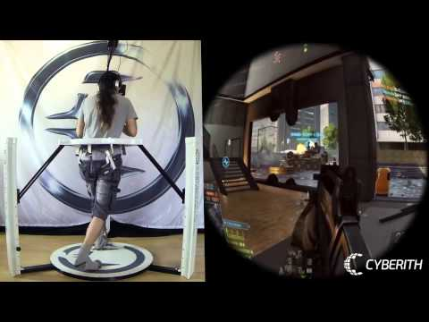 Battlefield 4 in VR with the Cyberith Virtualizer and the Oculus Rift