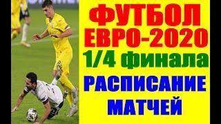Футбол Чемпионат Европы по футболу 2021 Евро 2020 Расписание 1 4 финала