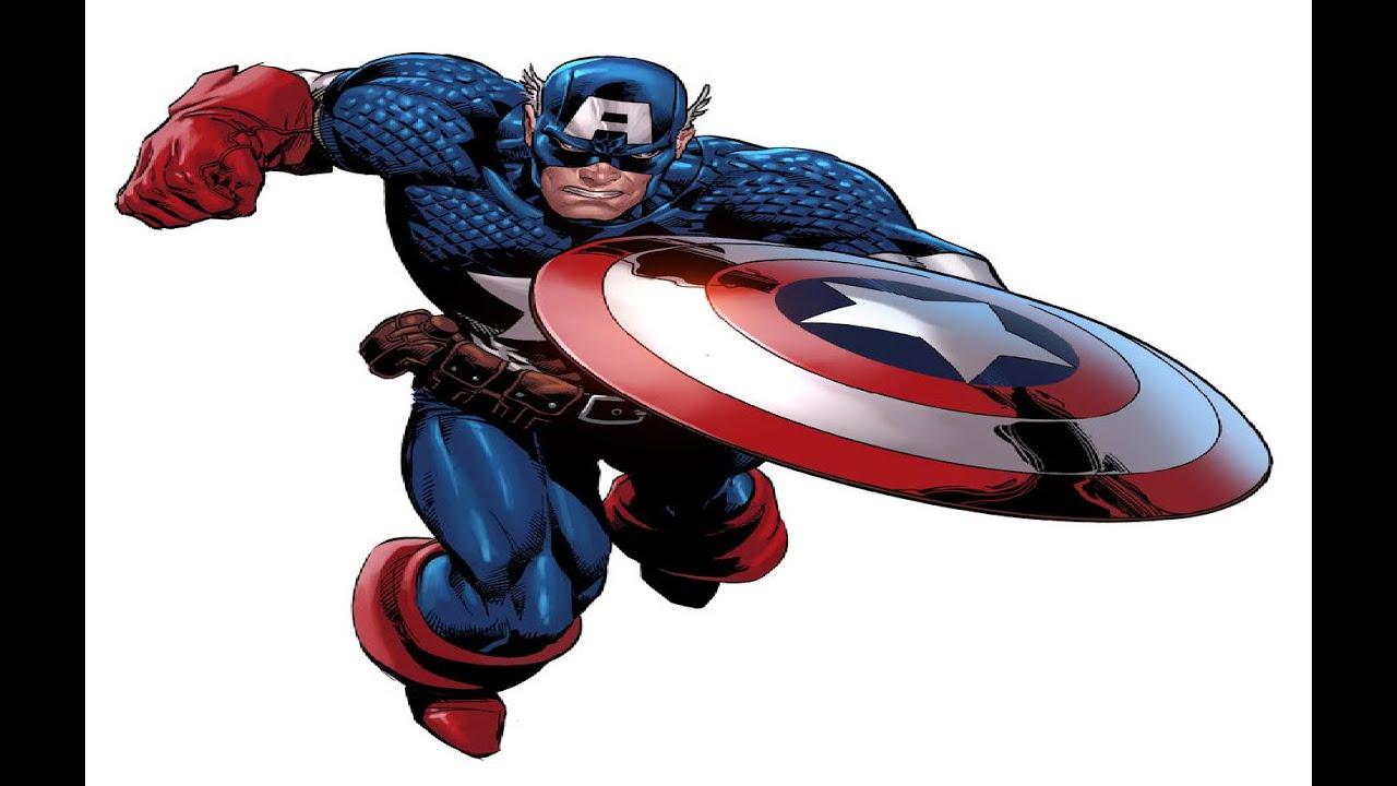 como dibujar y pintar a Capitan America - YouTube