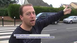 Johnny Hallyday : son tournage à Voisins-le-Bretonneux en 2005