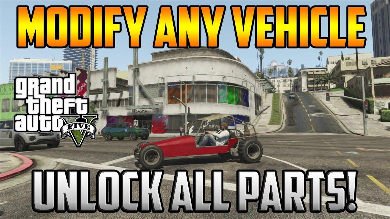 Gta 5 Online - Modify Any Vehicle! Unlock All Car Parts! - YouTube