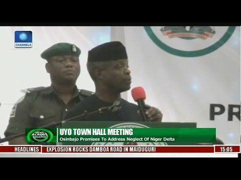 News Across Nigeria: Osinbajo Promises To Address Neglect Of Niger Delta